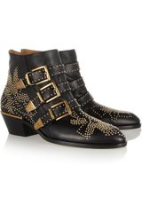 Chloé Susanna Studded Leather Ankle Boots - Lyst
