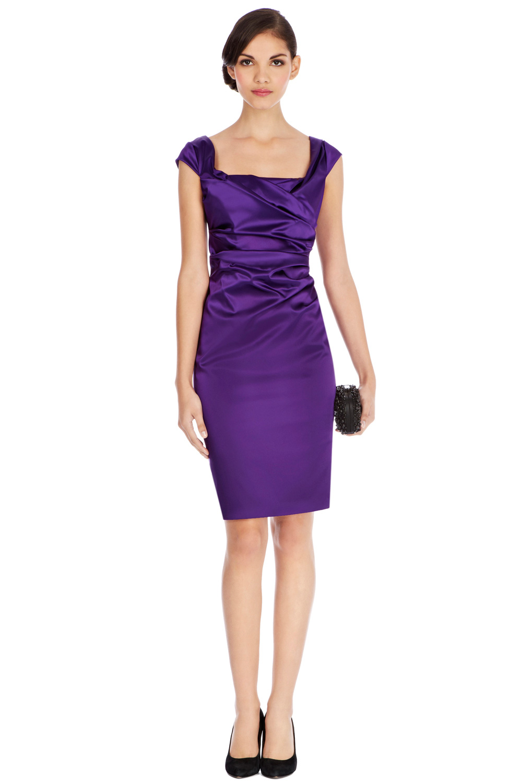 Coast Alva Duchess Satin Dress in Purple   Lyst
