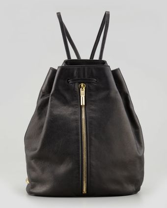 Elizabeth And James Leather Drawstring Sling Backpack - Lyst