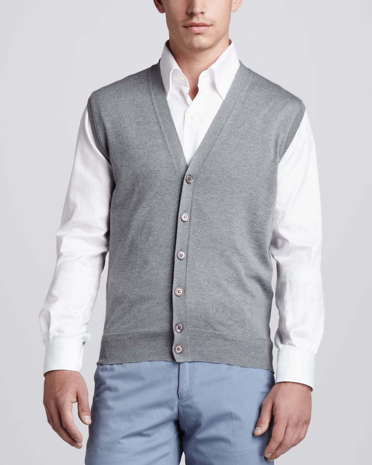Ermenegildo zegna Woolcashmere Sweater Vest in Gray for Men | Lyst
