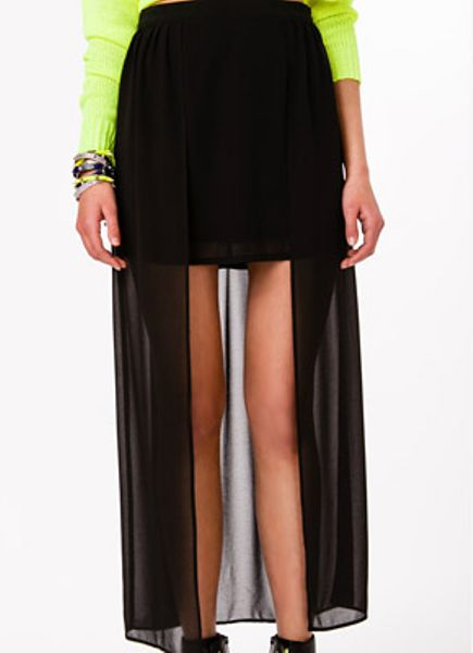 Forever 21 Layered Maxi Skirt in Black