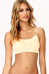 Forever 21 Tonal Piped Sports Bra - Lyst