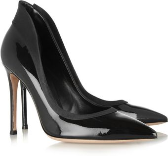 Gianvito Rossi Satintrimmed Patentleather Pumps - Lyst