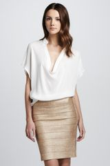 Haute Hippie Shimmery Bandage Pencil Skirt - Lyst