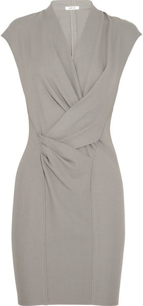 Helmut Lang Stretch Crepe Dress - Lyst