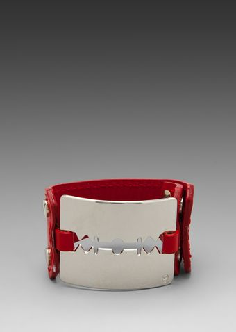 McQ by Alexander McQueen Razor Cuff in Red - Lyst