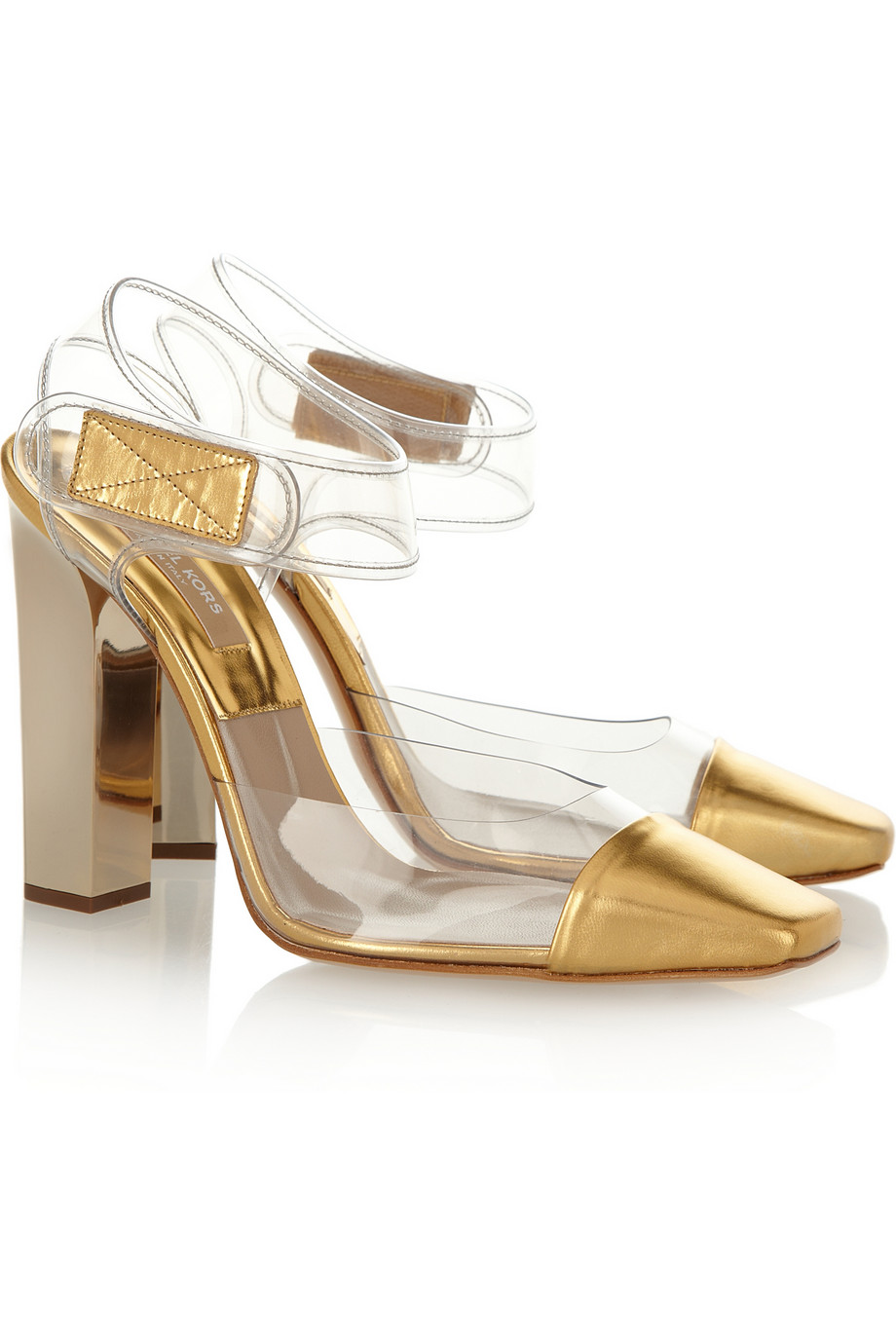 5bc5ab1b830b Lyst - Michael Kors Pvc and Leather Pumps in Metallic