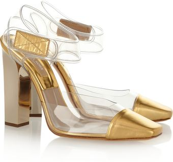 Michael Kors Pvc and Leather Pumps - Lyst