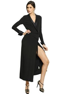 Black Jersey Maxi Dress on Blue Label Zach Evening Dress In Black  Collection Black    Lyst