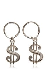 Saint Laurent Dollar Drop Earrings - Lyst