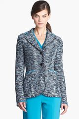 St. John Collection Ribbon Tweed Knit Jacket - Lyst