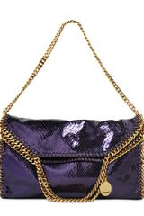 Stella McCartney Three Chain Falabella Metallic Bag - Lyst