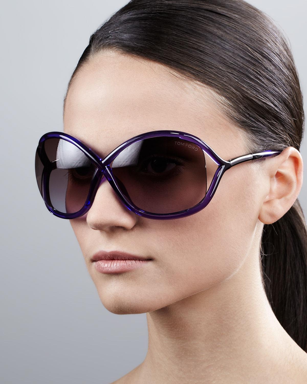 f83f420fc1ab Lyst - Tom Ford Whitney Bold Sunglasses in Black