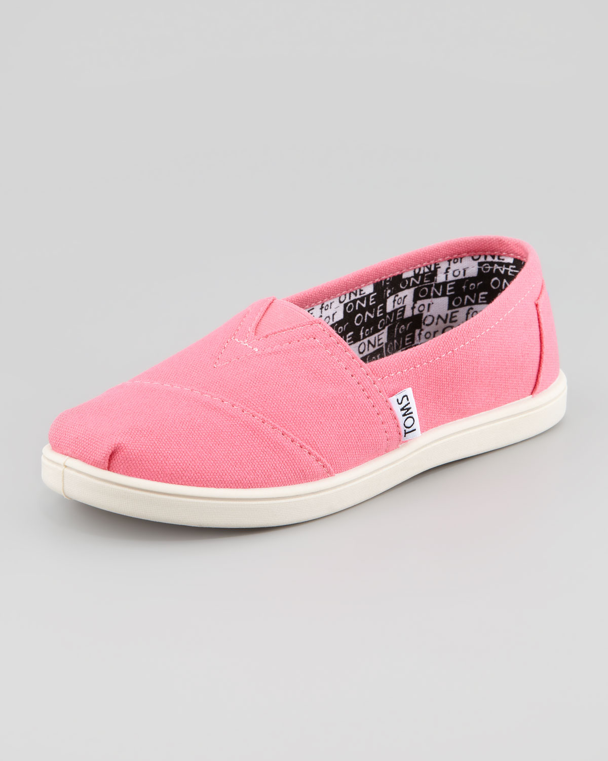 toms classic canvas slip on in pink lyst