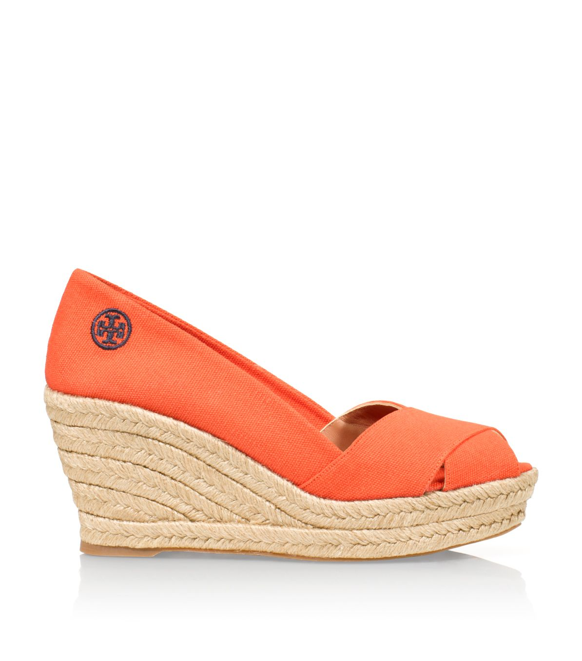 13a484f3f Tory Burch Filipa Espadrille Wedge in Red - Lyst