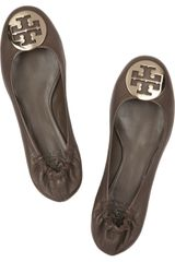 Tory Burch Reva Leather Ballet Flats - Lyst