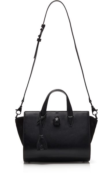 Alexander Wang Black French Bull Pelican Mini Satchel with Rhodium Hardware - Lyst