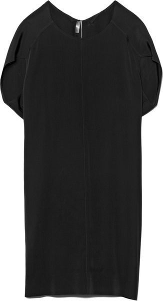 Alexander Wang Textured Crepe Vacuum Pressed Pinched Back Dress - Lyst
