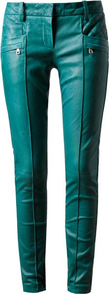 Balmain Leather Biker Trousers - Lyst