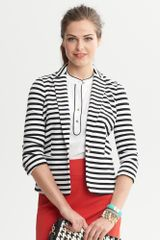Banana Republic Striped Ponte Blazer - Lyst