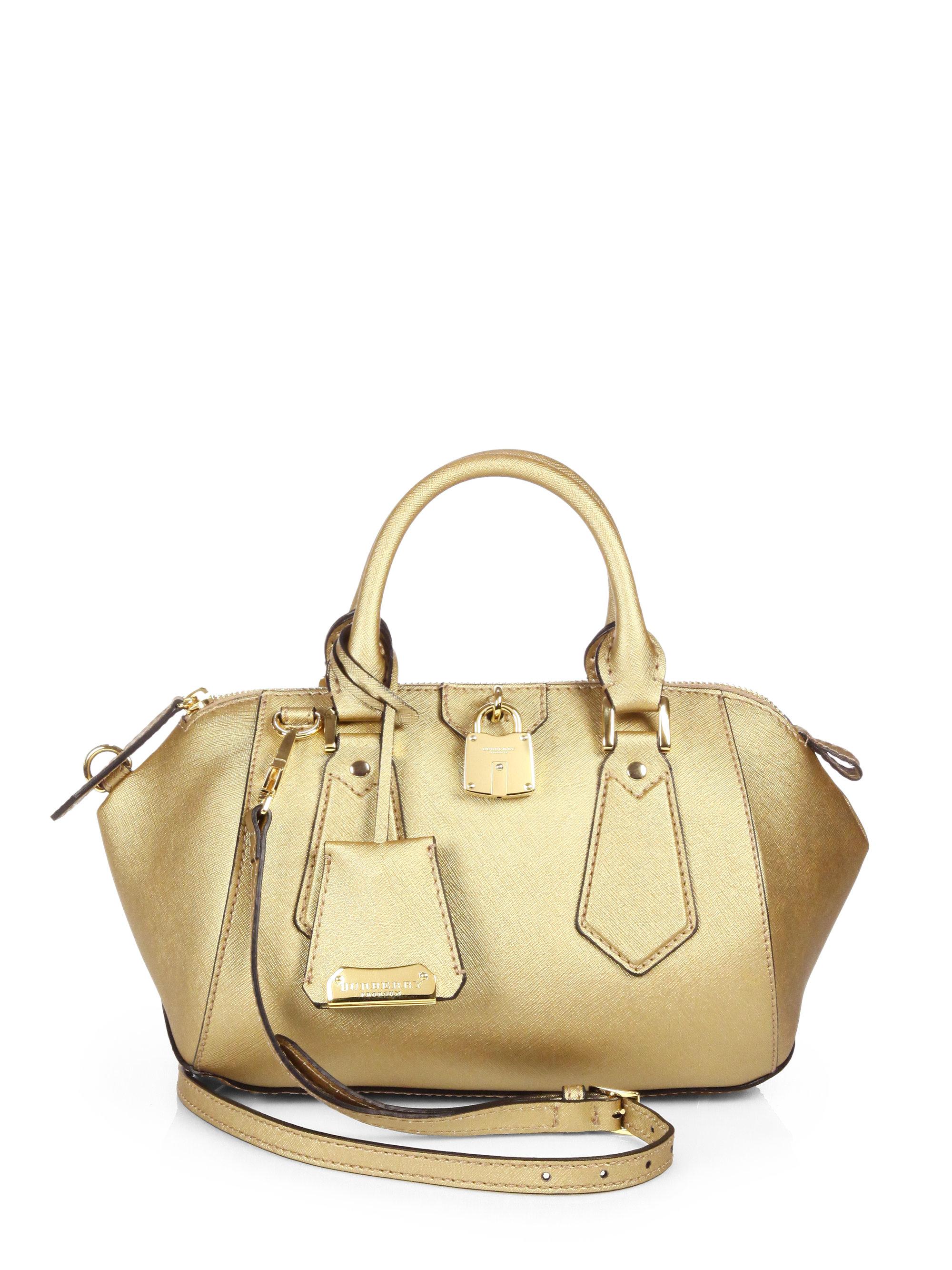 e97e48782123 Lyst - Burberry Prorsum Blaze Metallic Satchel Handbag in Metallic