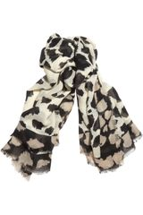 Burberry Shoes & Accessories Printed Wool Silk and Cashmere Blend Scarf - Lyst