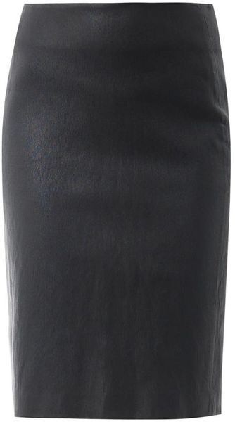 Diane Von Furstenberg Marta Leather Skirt - Lyst
