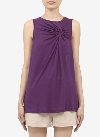 Elizabeth And James Larissa Twisted Front Jersey Top - Lyst