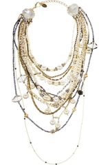 Erickson Beamon Girlie Queen Goldplated Swarovski Crystal and Faux Pearl Necklace - Lyst