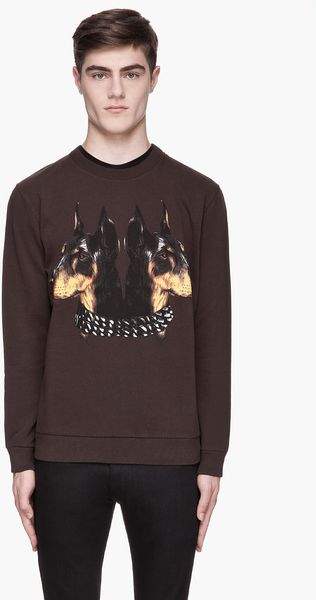 Givenchy Brown Doberman Print Sweatshirt - Lyst