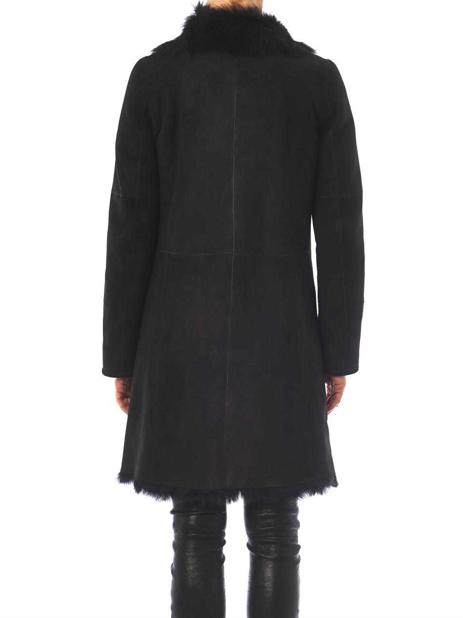 Joseph Anais Shearling Coat in Black | Lyst