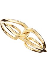 Michael Kors Golden Twist Bangle - Lyst