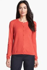 Nordstrom Collection Silk Cashmere Textured Cardigan - Lyst