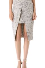 Shona Joy Crystal Shards Pencil Skirt - Lyst