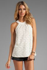 Testament Crochet Halter Top in White - Lyst