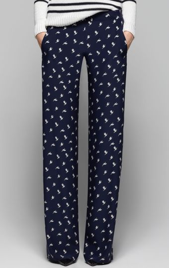 Theory Mitrana Bird Printed Pant - Lyst