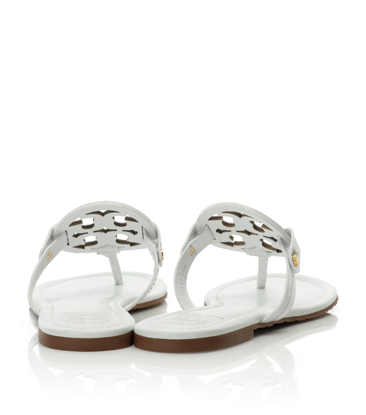 d0532733d Tory Burch Patent Leather Miller Sandal in White - Lyst