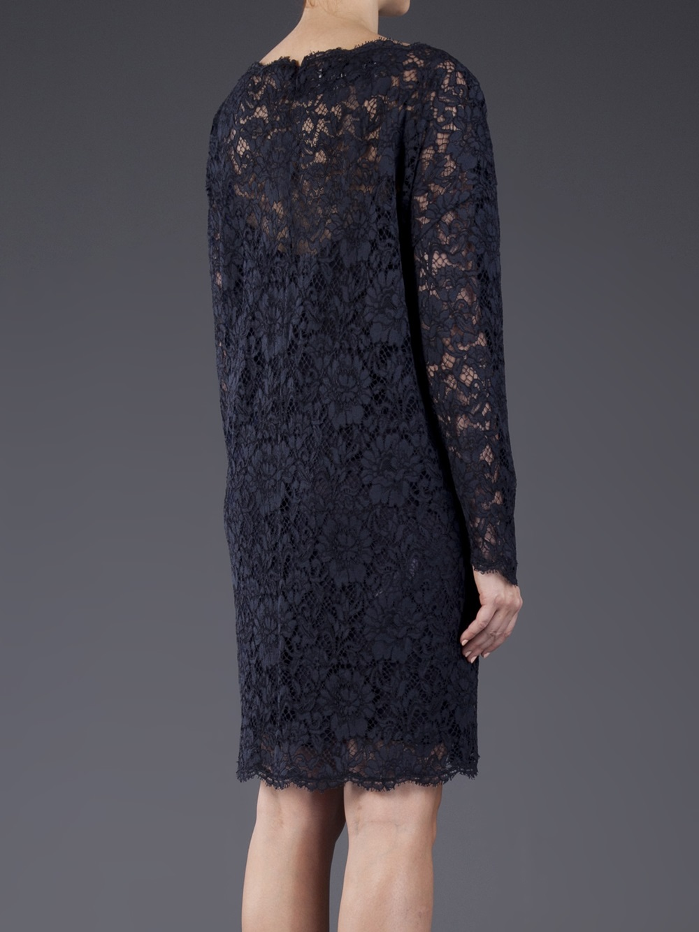 Lyst Valentino Lace Tunic Dress In Blue