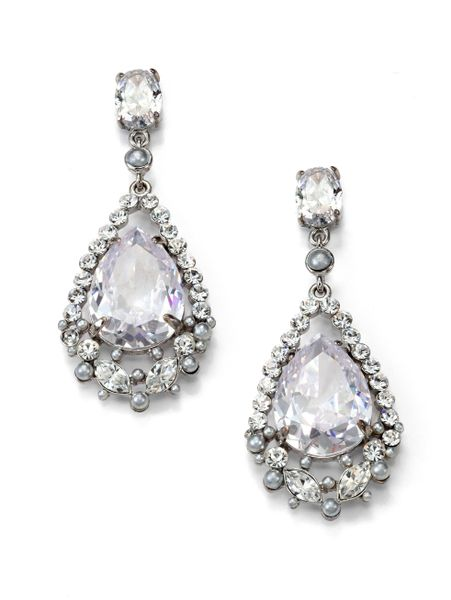 allen jewelry abs by allen schwartz sparkle teardrop earrings in 6308