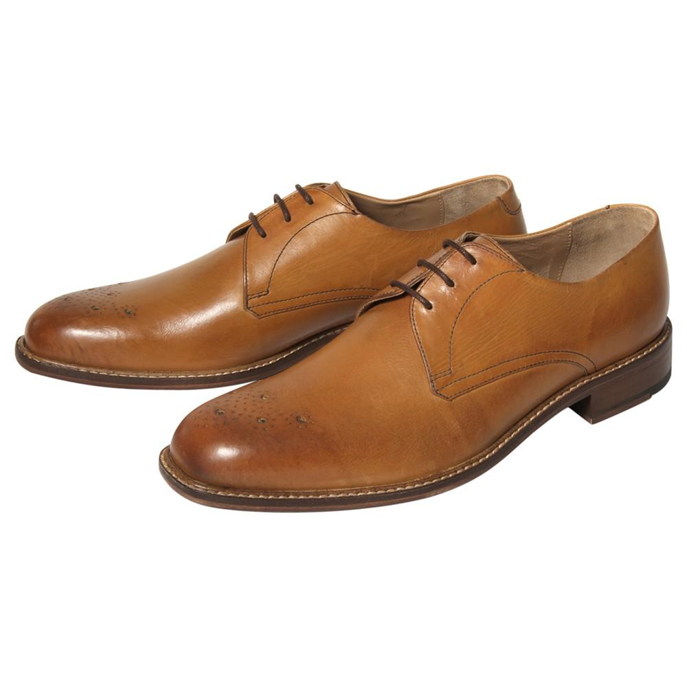Ben Sherman Pliyn Leather Derby Shoes in Brown for Men ...
