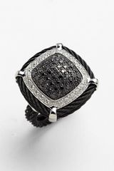 Charriol Celtic Noir Diamond Cocktail Ring - Lyst