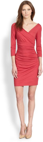 Diane Von Furstenberg Bentley Ruched Jersey Dress - Lyst