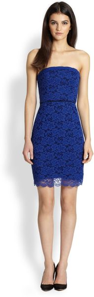 Diane Von Furstenberg Walker Strapless Lace Dress - Lyst