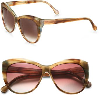 Elizabeth And James Crescent Beveled Catseye Sunglasses - Lyst