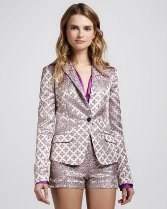 Elizabeth And James Abigail Brocade Blazer - Lyst