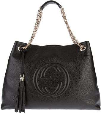 Gucci Raised Logo Shopper Tote - Lyst