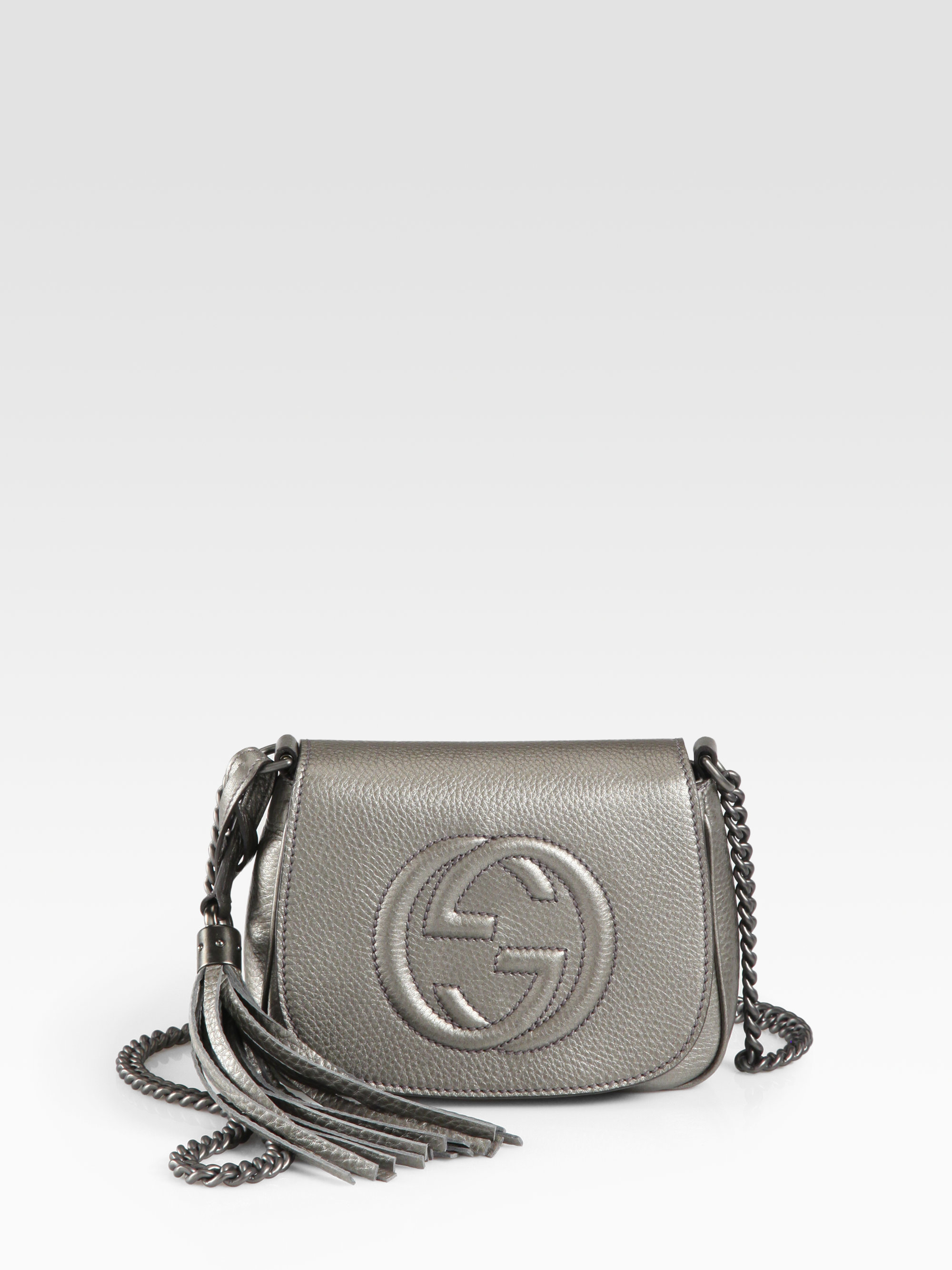 ec15f0330094 Lyst - Gucci Soho Metallic Leather Chain Shoulder Bag in Metallic