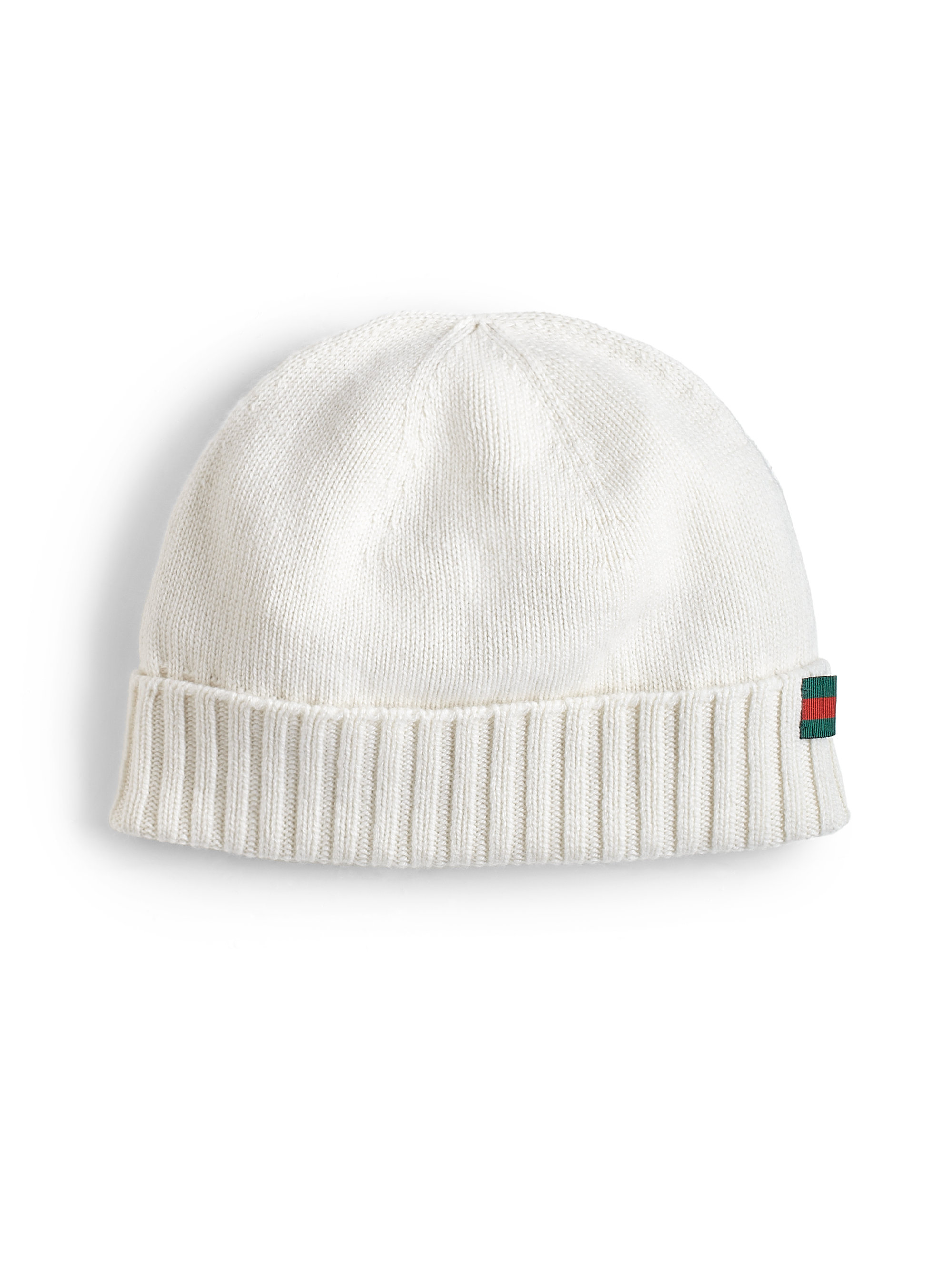 5319916081dcd Gucci Cashmere Beanie Hat in White for Men - Lyst