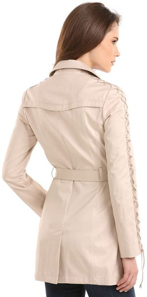 Guess Madelin Trench In Beige Pink Salmon Lyst