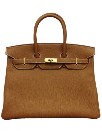 Hermes 35cm Gold Togo Birkin with Gold - Lyst